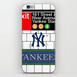 NYC Yankees Subway iPhone Skin