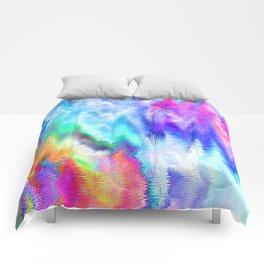 Vibrating Glitch Rainbow Comforters