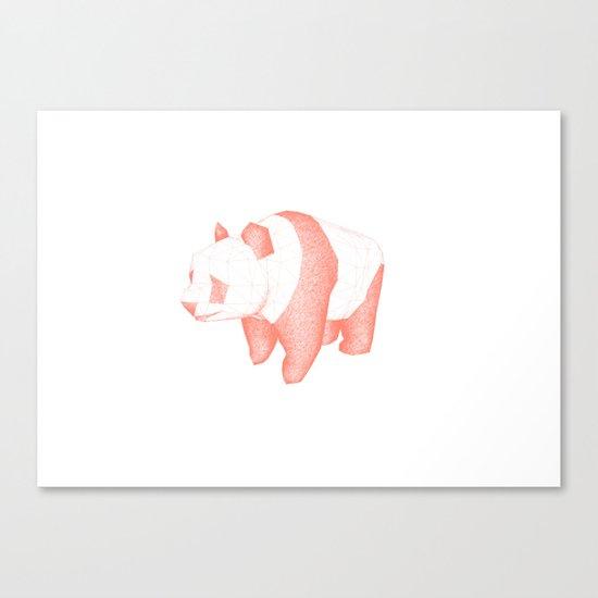 Geo Panda Canvas Print