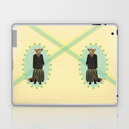 classy feather fox Laptop & iPad Skin