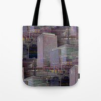 the office Tote Bags featuring office Dayze by David  Gough