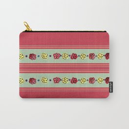 A Rosey Outlook Red Carry-All Pouch