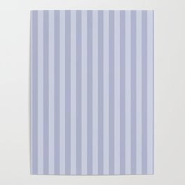 Gray blue simple stripes . Poster