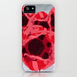 In memoriam - Heart of poppies iPhone Case