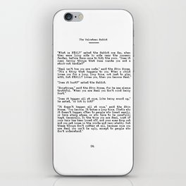 Becoming Real, Velveteen Rabbit Quote iPhone Skin