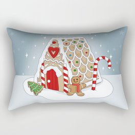 Gingerbread house Rectangular Pillow