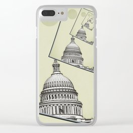 Political Spin Clear iPhone Case