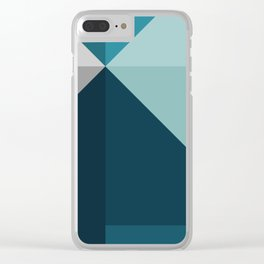 Geometric 1702 Clear iPhone Case