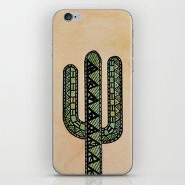 Mandala Cactus Watercolor & Ink iPhone Skin
