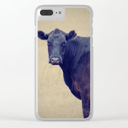Looking Cow Clear iPhone Case
