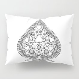 Ace of Spades Black and White Pillow Sham