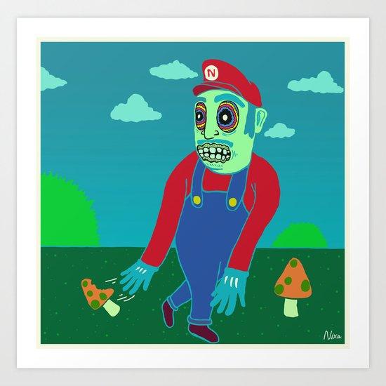 Shroomario Art Print