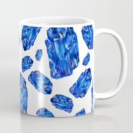 Tanzanite Birthstone Watercolor Illustration Coffee Mug