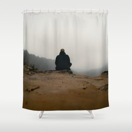 Defying gravity Shower Curtain