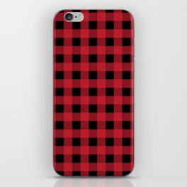 Red Flannel iPhone Skin