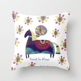 Horse Lover Throw Pillow