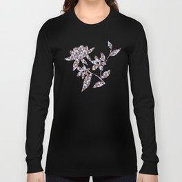 Arabesque Plant Jungle in Lavender, Orange and Purple Ethnic Pattern Illustration Long Sleeve T-shirt
