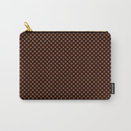 Black and Potter's Clay Polka Dots Carry-All Pouch
