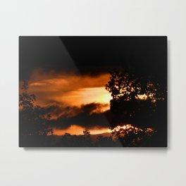 Sunset - FireSky Metal Print