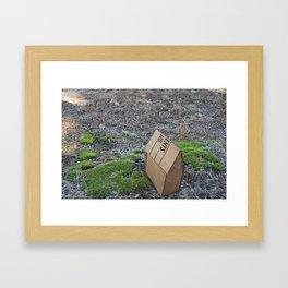 House In the Moss Framed Art Print