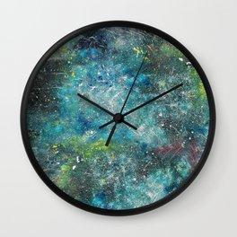 A galactic ocean - Painting Wall Clock