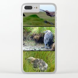 Vicking's Birds Clear iPhone Case