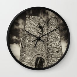 Cripplesease Engine House in Mono Wall Clock