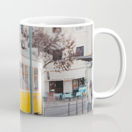 Yellow Tram in Lisbon Coffee Mug