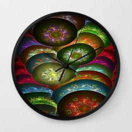 Cosmic Flakes Wall Clock