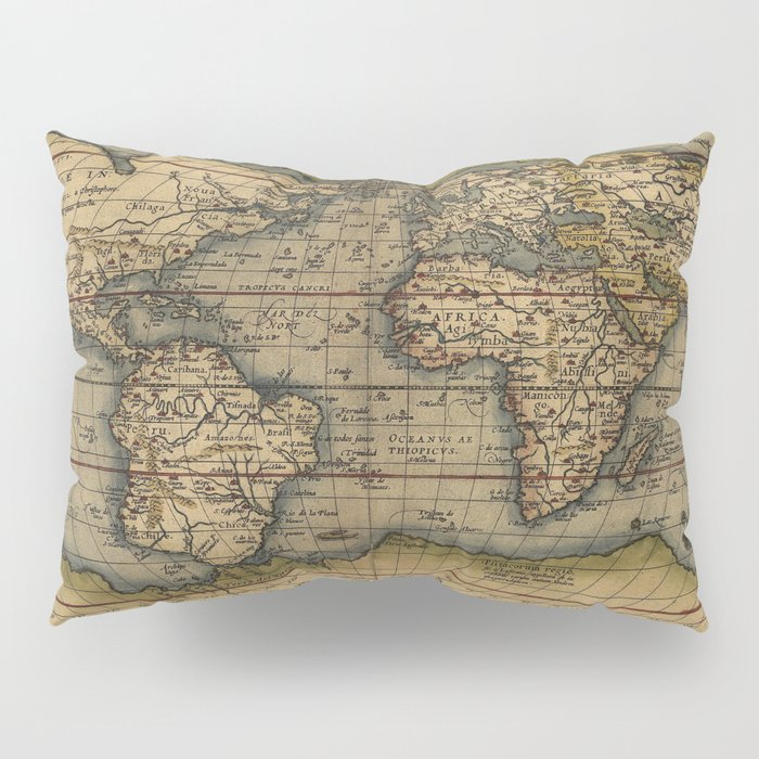Antique Map Of North America.Antique Map Of North And South America Pillow Sham By Foxxmap Society6