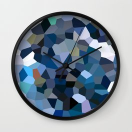 Sky Blue Moon Mountain Dreams Wall Clock
