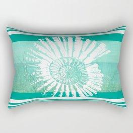 Nautilus Decor Mixed Media Piece Rectangular Pillow