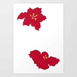 Poinsettia - red Art Print
