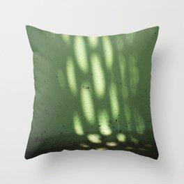 Green Light Spots Throw Pillow