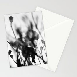 Black and White Poppies Stationery Cards