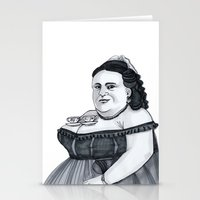 tits Stationery Cards featuring Tea Tits by Bad Luck