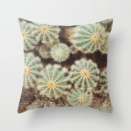 Biasenzaniro Prickle Me Much - Cactus Organic Texture Throw Pillow