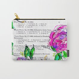 Book contents - Floral painting Carry-All Pouch
