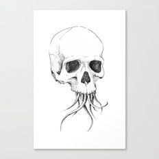 Skull with Tentacles Canvas Print