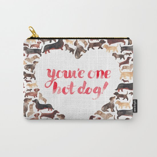 One Hot Dog Carry-All Pouch