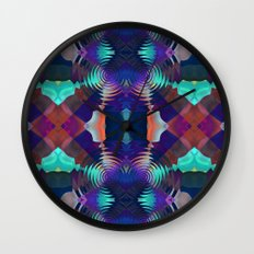 Abstract Patchwork Wall Clock