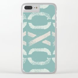 Shapes Of Love - Retro Pastel Green Clear iPhone Case