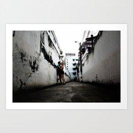 Alleyway Love Art Print