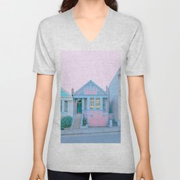 San Francisco Painted Lady Victorian House Unisex V-Neck