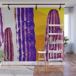Psychedelic Saguaro Reflection Wall Mural
