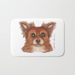 Alvin the Long-haired Chihuahua Bath Mat