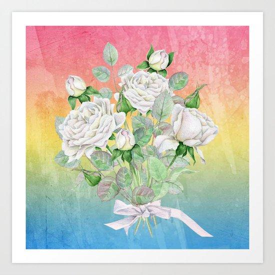 Flowers bouquet #25 Art Print