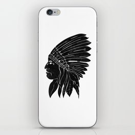 Indian Chief / Black Edition iPhone Skin