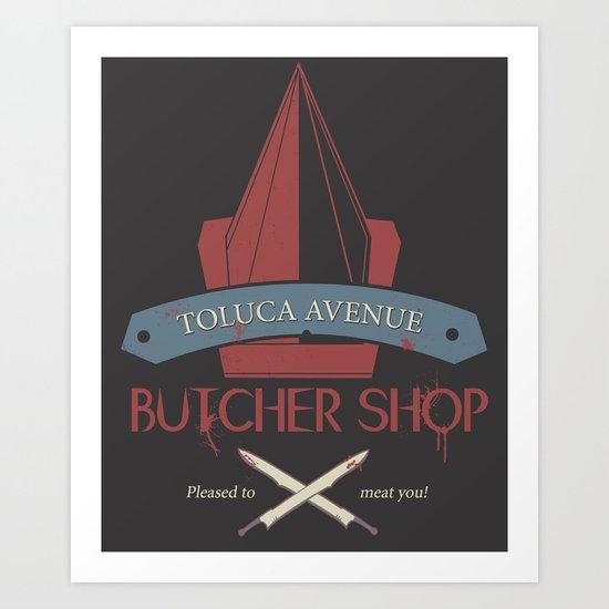 The Silent Butcher Art Print