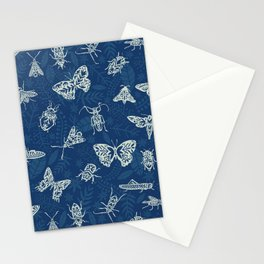 Cyanotype insects Stationery Cards
